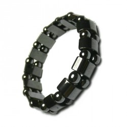 Bracelet perles Hematite magnétique